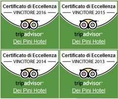 Certificati di Eccellenza di TripAdvisor